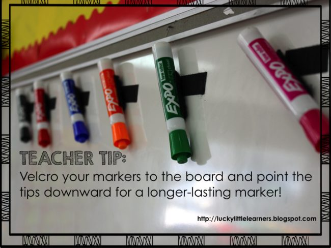 Many teachers buy their own supplies, so making them last longer can save money, too.