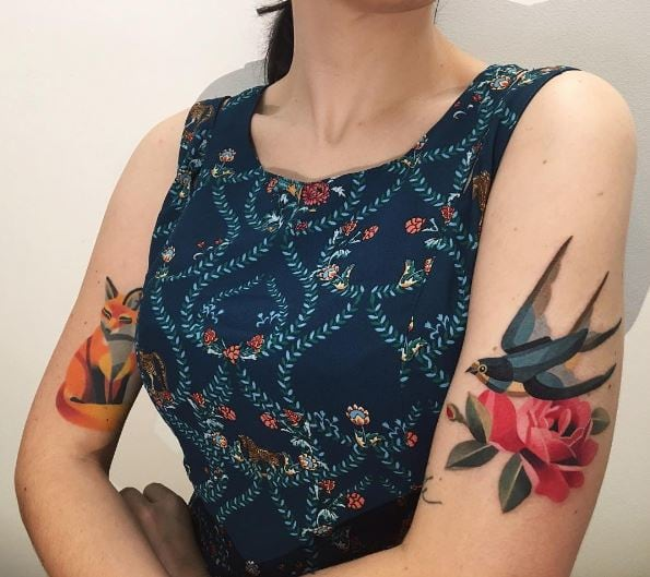16 Watercolor Tattoos Seriously Cool 3