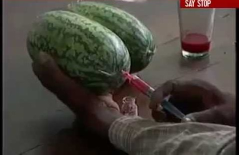 Shocking This Video Shows How Poison Is Injected Into Watermelons To Make Them Sweeter! (GMO ALERT)